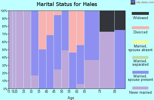 Zip code 68627 marital status for males