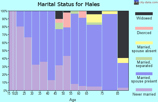 Zip code 68633 marital status for males