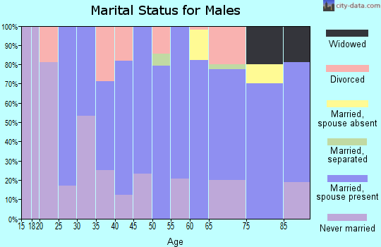 Zip code 68641 marital status for males