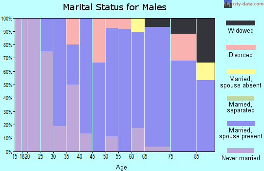 Zip code 68722 marital status for males