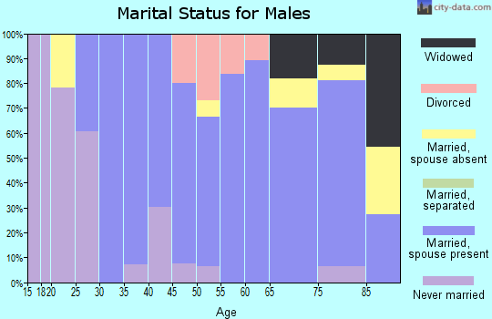 Zip code 68771 marital status for males