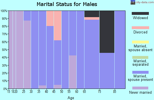 Zip code 68941 marital status for males