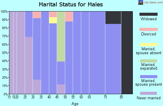 Zip code 68980 marital status for males