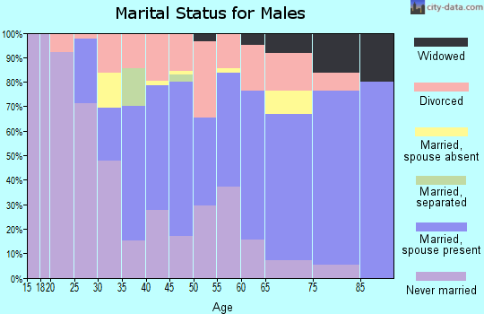 Zip code 70346 marital status for males