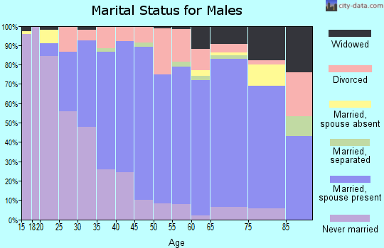 Zip code 70360 marital status for males
