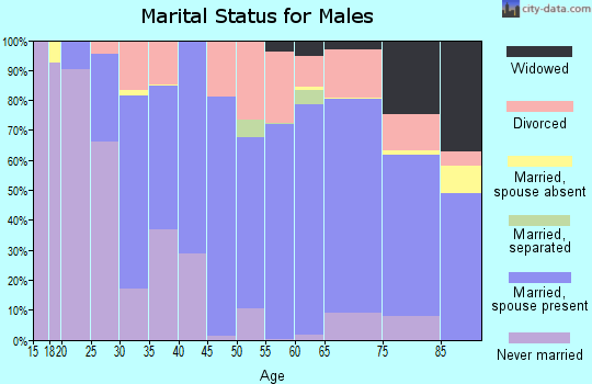 Zip code 70520 marital status for males