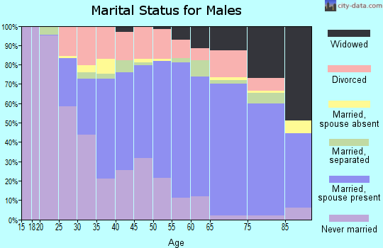 Zip code 71055 marital status for males