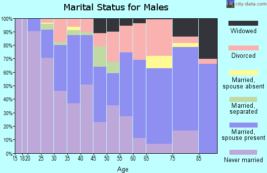 Zip code 71104 marital status for males