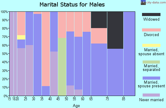 Zip code 71219 marital status for males