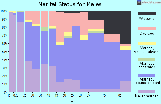 Zip code 71901 marital status for males
