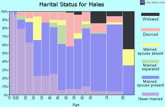 Zip code 72110 marital status for males