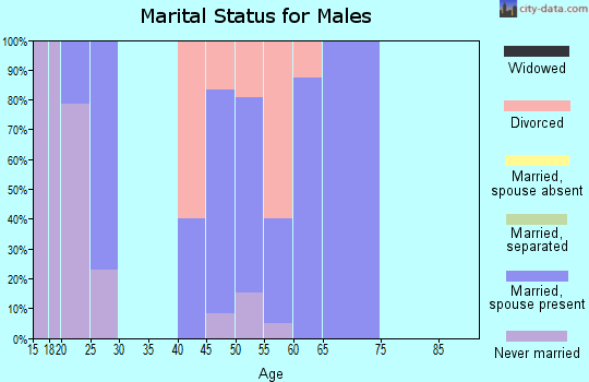 Zip code 72123 marital status for males