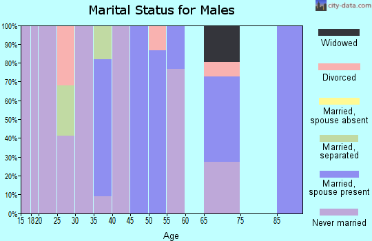 Zip code 72394 marital status for males
