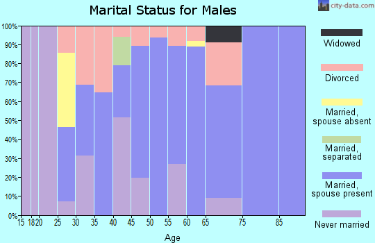 Zip code 72395 marital status for males