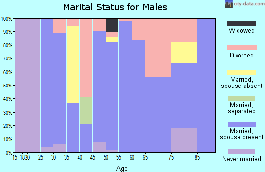Zip code 72444 marital status for males