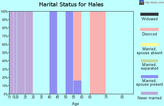 Zip code 72721 marital status for males