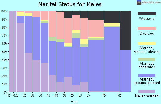 Zip code 73115 marital status for males