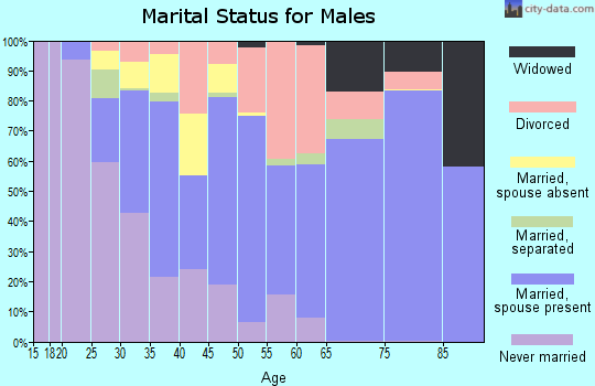 Zip code 73122 marital status for males