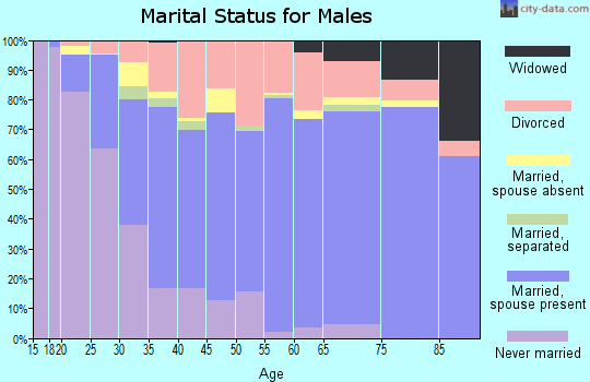 Zip code 73159 marital status for males