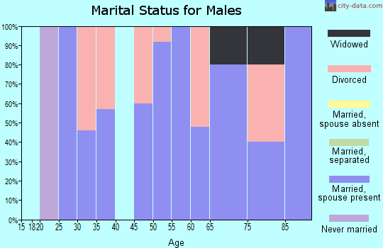 Zip code 73660 marital status for males
