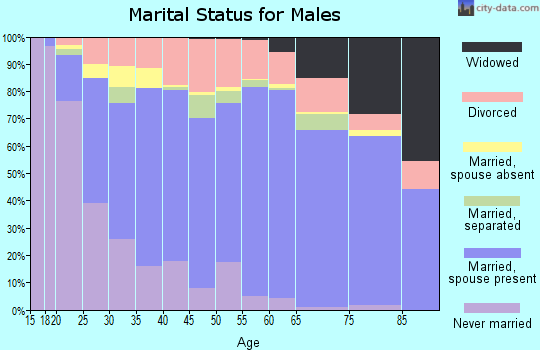 Zip code 74066 marital status for males