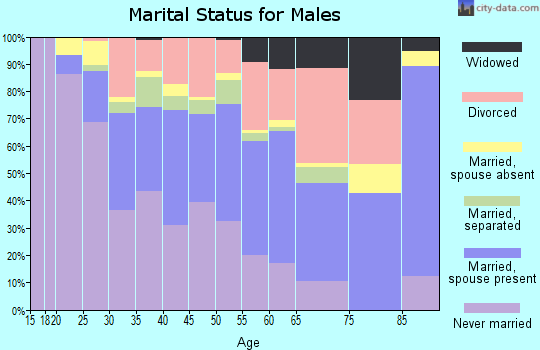 Zip code 74106 marital status for males