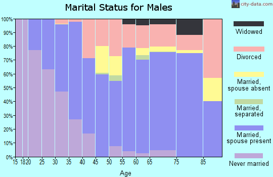 Zip code 74426 marital status for males