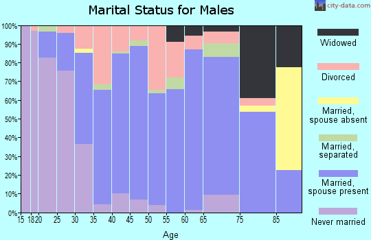 Zip code 74429 marital status for males