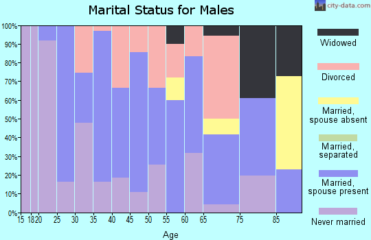 Zip code 74901 marital status for males