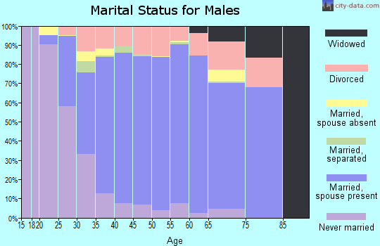 Zip code 75056 marital status for males