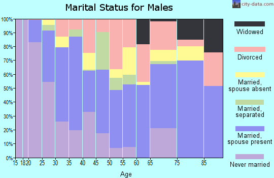 Zip code 75057 marital status for males