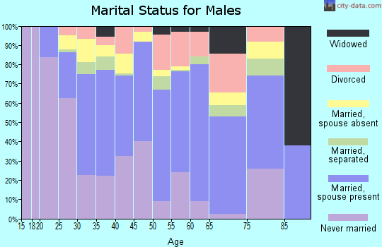 Zip code 75223 marital status for males