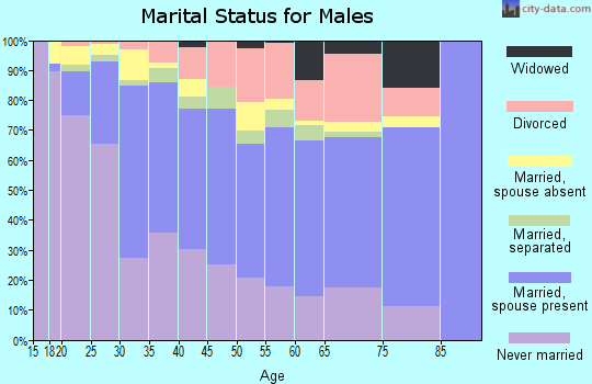 Zip code 75224 marital status for males