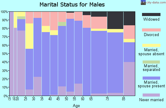 Zip code 75462 marital status for males