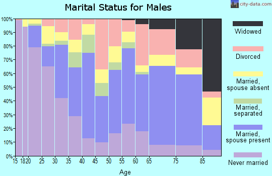 Zip code 75702 marital status for males