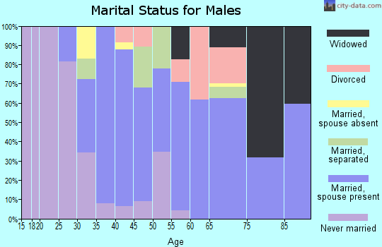 Zip code 75706 marital status for males
