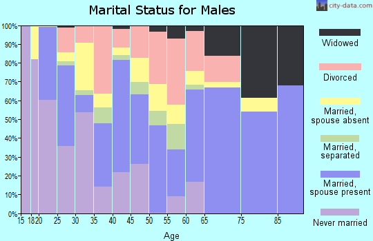 Zip code 75941 marital status for males
