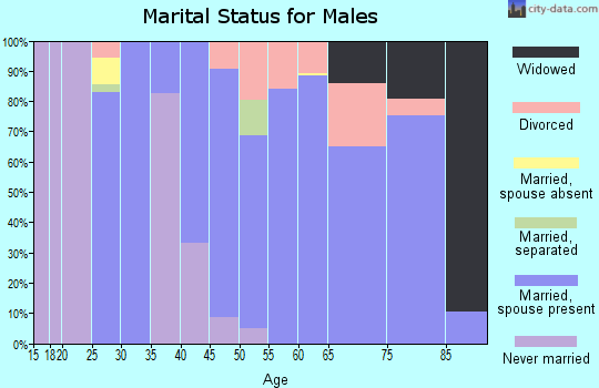 Zip code 75973 marital status for males
