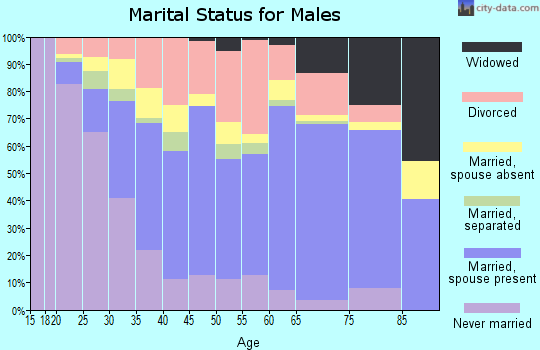 Zip code 76067 marital status for males