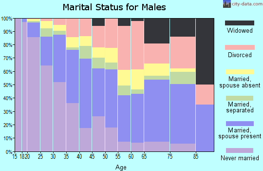 Zip code 76119 marital status for males