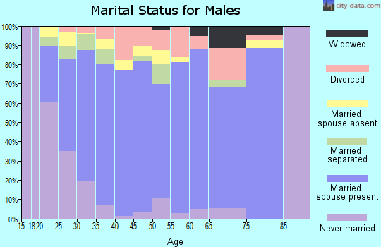 Zip code 76542 marital status for males