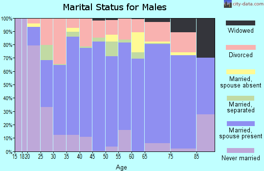 Zip code 76548 marital status for males