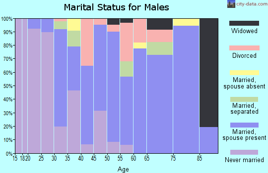 Zip code 76567 marital status for males