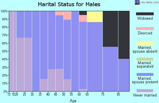 Zip code 76578 marital status for males