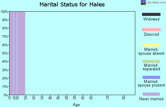 Zip code 76798 marital status for males
