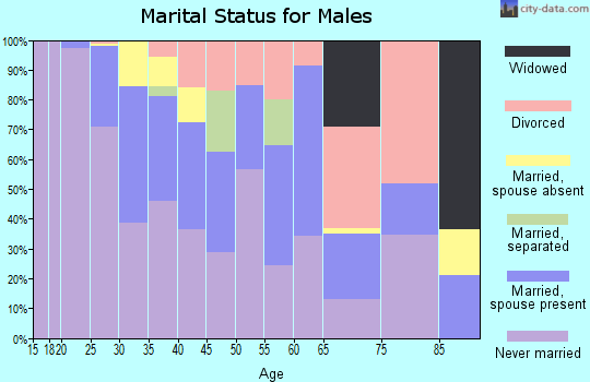 Zip code 77054 marital status for males