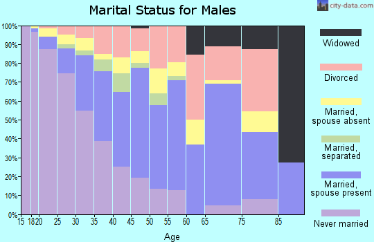 Zip code 77060 marital status for males