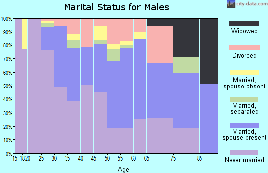 Zip code 77098 marital status for males