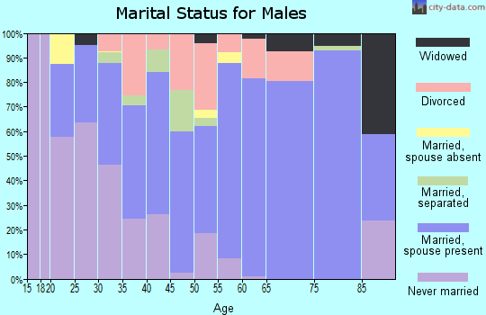 Zip code 77302 marital status for males