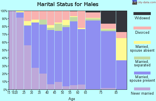 Zip code 77339 marital status for males